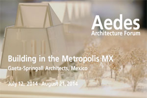 AEDES / Building in the Metropolis MX
